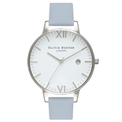 Olivia Burton Timeless Chalk Blue & Silver Watch