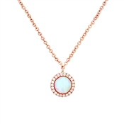 Argento Rose Gold Crystal Opal Necklace