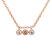 Argento Rose Gold Sparkling Crystal Necklace