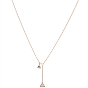 Argento Rose Gold Crystal Drop Triangle Necklace