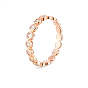 Argento Rose Gold Crystal Band Stacking Ring