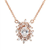 Argento Rose Gold Stellar Cluster Necklace