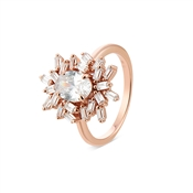Argento Rose Gold Stellar Cluster Ring