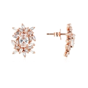 Argento Rose Gold Stellar Cluster Stud Earrings