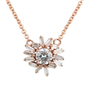 Argento Rose Gold Stellar Flower Necklace
