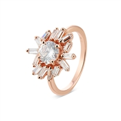 Argento Rose Gold Stellar Flower Ring