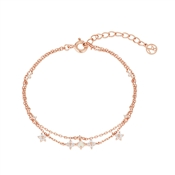 August Woods Rose Gold Floral Bracelet