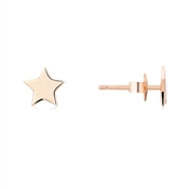 Argento Rose Gold Midnight Star Stud Earrings