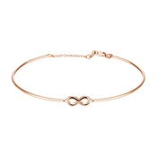 Argento Treasured Rose Gold Infinity Bangle