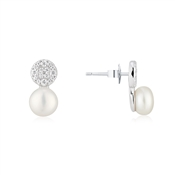 Argento Sparkling Pearl Stud Earrings