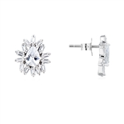 Argento Silver Stellar Flower Stud Earrings