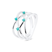 Argento Criss Cross Turquoise Ring