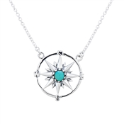 Argento Turquoise Wheel Necklace