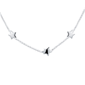 Argento Silver Star Choker Necklace