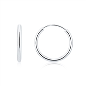 Argento Silver Small Hoop Earrings