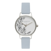 Olivia Burton Animal Motif Chalk Blue & Silver Watch