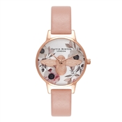 Olivia Burton Botanical 3D Bee Dusty Pink Watch