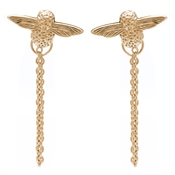 Olivia Burton 3D Bee Gold Chain Earrings