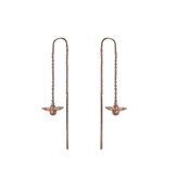 Olivia Burton 3D Bee Rose Gold Chain Drop Earrings