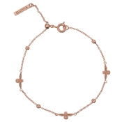 Olivia Burton 3D Bee & Ball Rose Gold Chain Bracelet