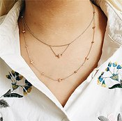 Olivia Burton 3D Bee and Ball Silver & Rose Gold Necklace