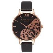 Olivia Burton Applied Wing Applied Wing Black & Rose Gold