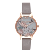Olivia Burton Signature Floral London Grey & Rose Gold Watch