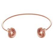 Olivia Burton Forget Me Knot Open Ended Rose Gold Bangle