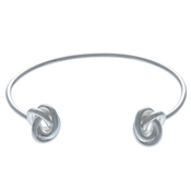 Olivia Burton Forget Me Knot Open Ended Silver Bangle
