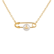 Vivienne Westwood Jordan Safety Pin Necklace