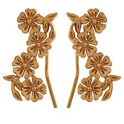 Olivia Burton Lace Detail Crawler Gold Earrings
