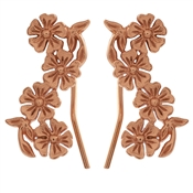 Olivia Burton Lace Detail Crawler Rose Gold Earrings