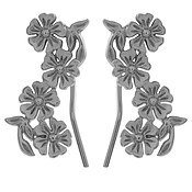 Olivia Burton Lace Detail Silver Crawler Earrings