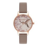 Olivia Burton Painterly Prints London Grey & Rose Gold Watch