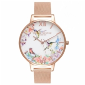 Olivia Burton Painterly Prints Hummingbird Mesh Watch