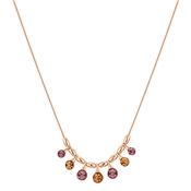 August Woods Amethyst & Topaz Drop Necklace