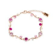 August Woods Rose Gold & Fuchsia Floral Bracelet