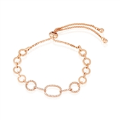 August Woods Rose Gold Oval Pull Bracelet