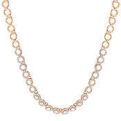 August Woods Rose Gold Crystal Link Necklace