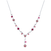August Woods Silver & Pink Floral Necklace