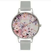 Olivia Burton Vegan Friendly Enchanted Garden Grey Watch