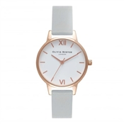 Olivia Burton Vegan Friendly Midi Grey & Rose Gold Watch