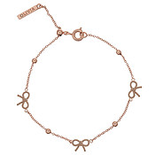 Olivia Burton Vintage Bow and Ball Rose Gold Bracelet