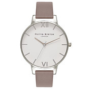 Olivia Burton Big Dial London Grey & Silver Watch