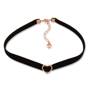 Dirty Ruby Black Velvet Heart Choker