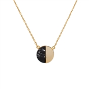 Dirty Ruby Gold & Black Marble Necklace