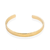 Dirty Ruby Gold Inscribed Open Bangle