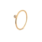 Dirty Ruby Gold Stacking Ring