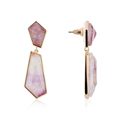 August Woods Amethyst & Rose Gold Drop Earrings