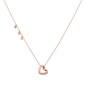 August Woods Rose Gold Hanging Heart Necklace